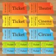 Stock Vector: Vintage cinema tickets vector