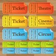 Vintage cinema tickets vector — Stock Vector #2971433