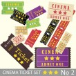 Royalty-Free Stock Vector Image: Vintage cinema tickets for movie