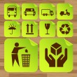 Royalty-Free Stock Vector Image: Safety fragile sticker icon set