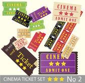 Vintage cinema tickets for movie — Stock Vector
