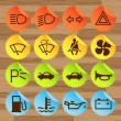 Car icon button set vector stickers - Stock Vector