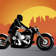 Stock Vector: Chopper motorcycle vector