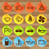 Car icon button set vector stickers — Stock Vector