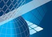 Vettore sfondo blu business — Vettoriale Stock