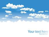 Ciel et nuages vector background — Vecteur