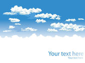 Sky and clouds vector background — Vecteur