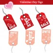Valentines Day tags vector — Stok Vektör