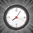 Wall clock burst vector background — Imagens vectoriais em stock