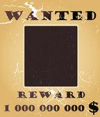 老西部通缉海报矢量背景与照片空间 — 图库矢量图片