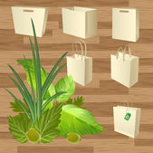 Blank boxes. Box package eco style — Vector de stock