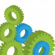 Cogwheels and gear vector background - business network concept — Stock Vector #3600872