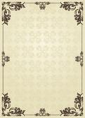 Verticale vintage achtergrond voor boek cover vector — Stockvector
