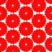 Floral pattern fresh white and red vector background — Stock Vector