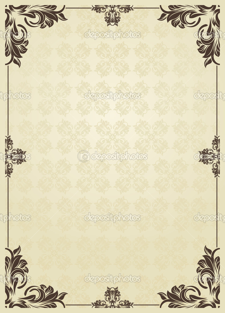 Vintage Book Cover Background : Vertical vintage background for book cover vector — stock