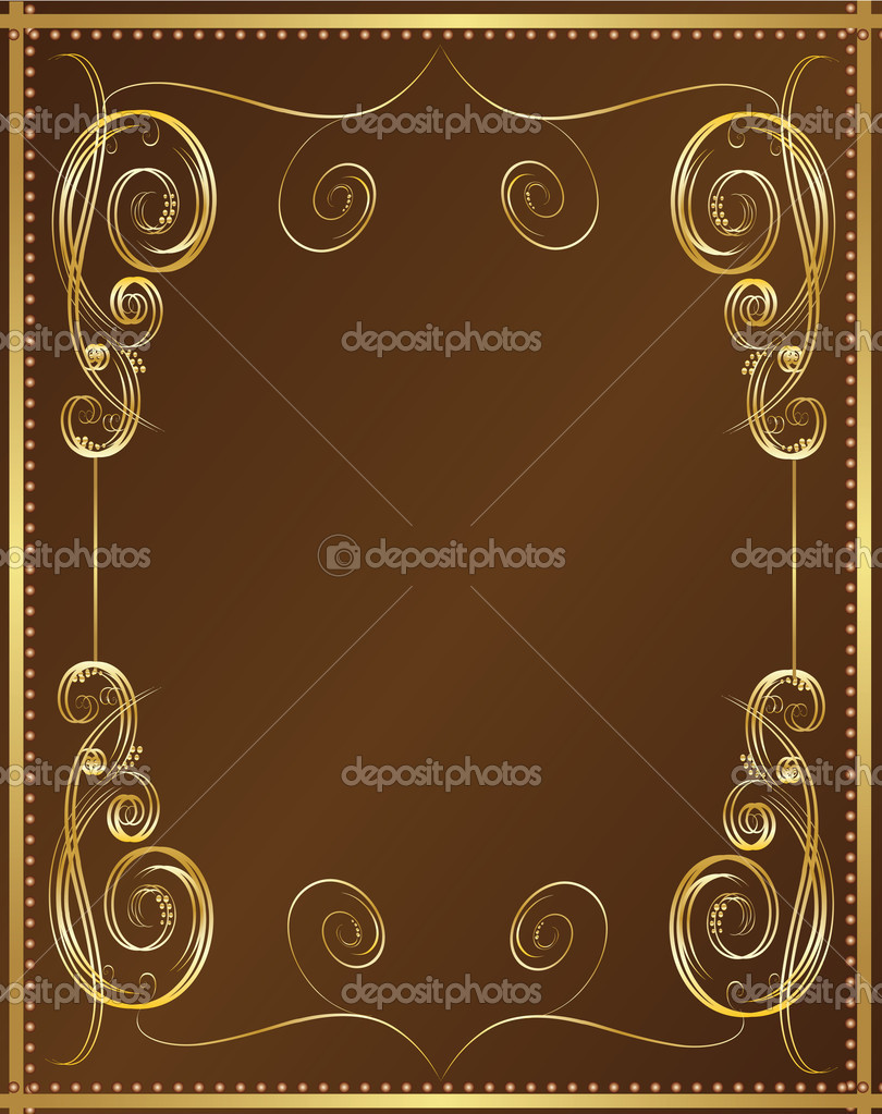 Pretty Book Cover Vector ~ Vertical vintage background for book cover vector — stock