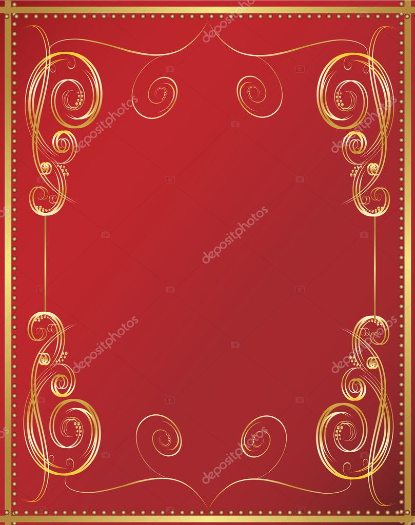 Vertical vintage background for Book cover vector for poster — Stock Vector #3615188