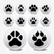 Collection of animal foot prints vector icons — Stock Vector #3626121