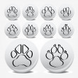 Royalty-Free Stock Vector Image: Collection of animal foot prints vector icons