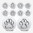 Collection of animal foot prints vector icons — Stock Vector #3626124