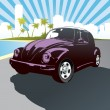 Beetle car vector - Stock Vector