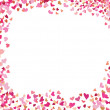 A vector heart background in red — Stock Vector