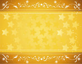 Gold star background vector — Stock Vector