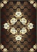 书的封面的复古背景矢量 — 图库矢量图片
