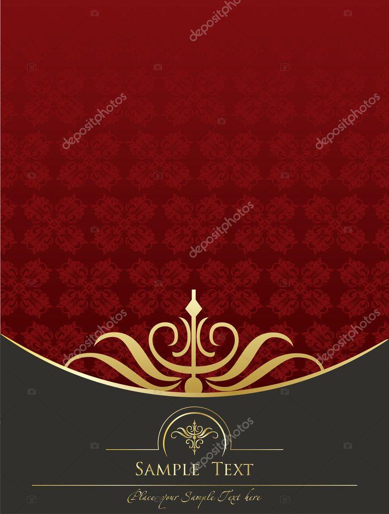 Book Cover Portadas Org ~ Vetor de fundo vintage para capa livro em vermelho