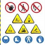 Construction hazard signs — Stock Vector #3632385