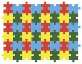 Bunte puzzle-hintergrund-vektor — Stockvektor