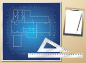 Architectural background vector blueprint — Stock Vector
