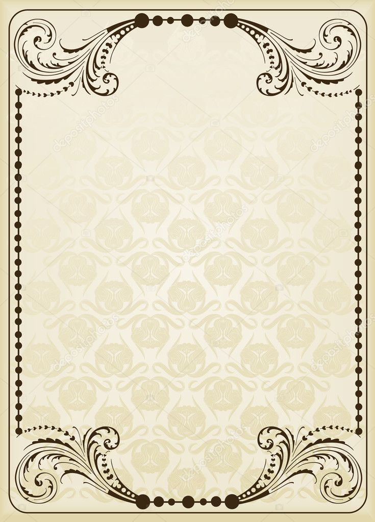 Background Images For Book Cover ~ Vintage background for book cover — stock vector krabata
