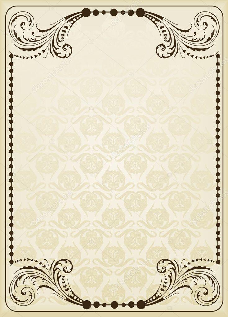 Book Cover Background Questions : Fondo vintage para la cubierta del libro — vector de stock