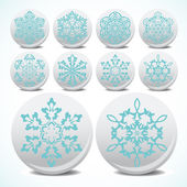 Snowflake set icons — Stock Vector