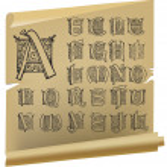 Vintage alphabet vector set — Stock Vector