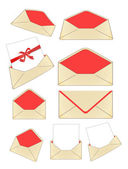Envelopes vector isolated on white — Stock Vector