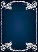 Cristal cadre bordure fond vecteur — Vecteur