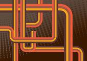 Retro lines background — Stock Vector