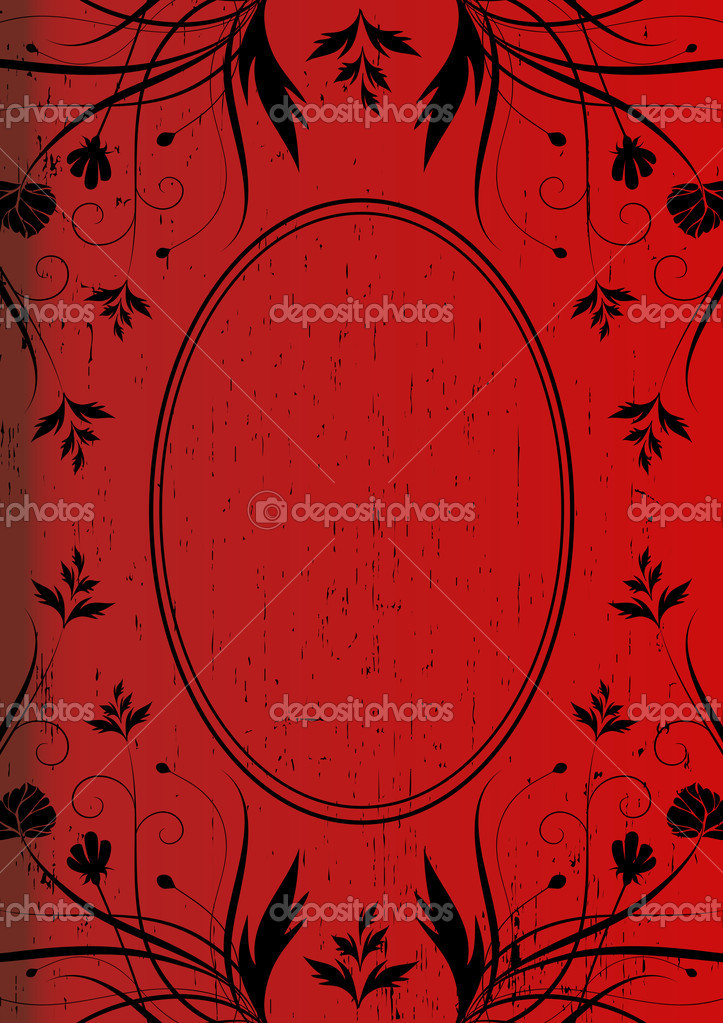 Vintage Background For Book Cover Vector In Red Color