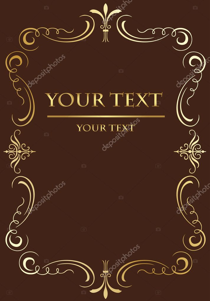 Classic Book Covers Vector : Vintage background for book cover vector in brown color