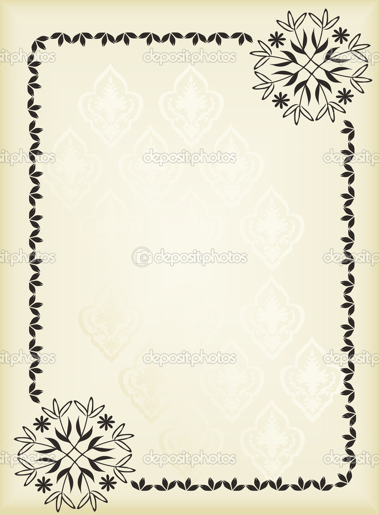 Classic Book Covers Vector ~ Vintage background for book cover vector — stock