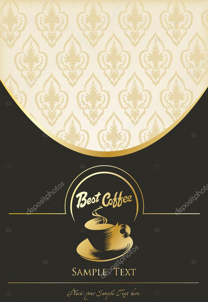 Classic Book Covers Vector : Vintage background for book cover vector menu — stock