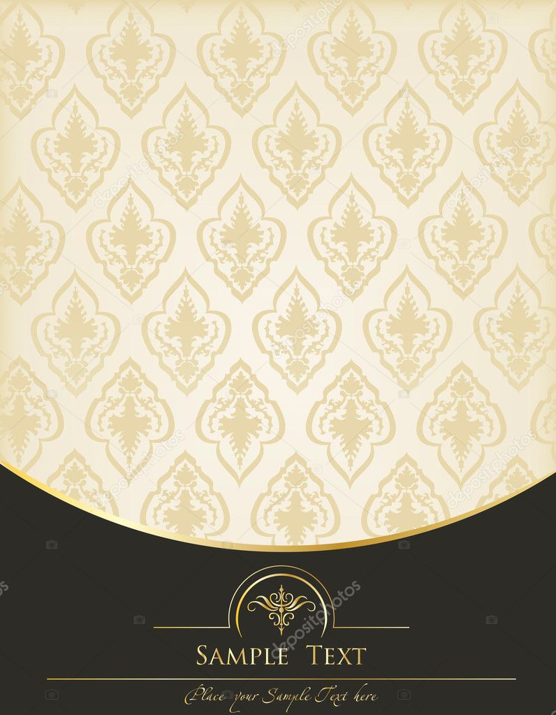 Vintage Book Cover Background ~ Vintage background for book cover vector — stock