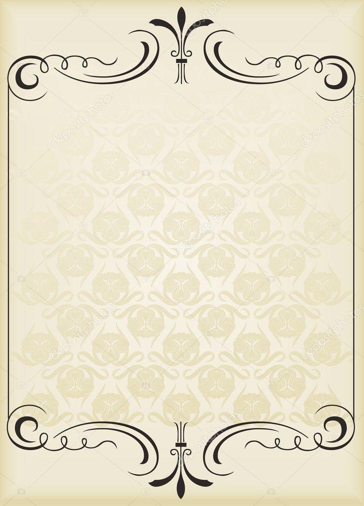 Simple Book Cover Background ~ Vertical fundo vintage para vetor de capa livro —
