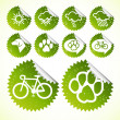 Royalty-Free Stock Vector Image: Vector illustration of green ecology icon set for tourism