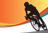 Sport bicycle vector racer — Stock Vector