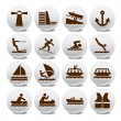 Tourist icon vector set — Stock Vector