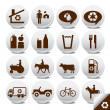 Tourism vector icons — Stock Vector #3698950