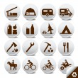 Tourism vector icons — Stockvectorbeeld